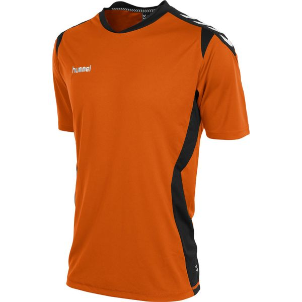 Hummel Paris T-Shirt Heren - Oranje / Zwart