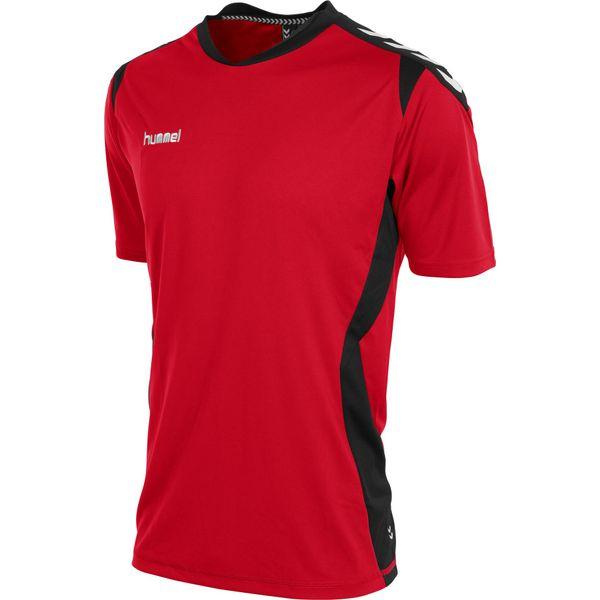 Hummel Paris T-Shirt Heren - Rood / Zwart