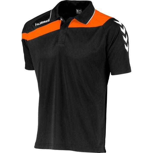 Hummel Elite Polo Heren - Zwart / Oranje