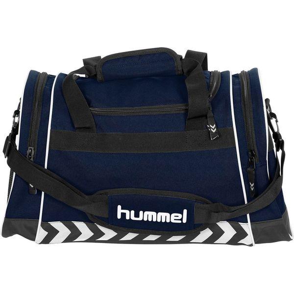 Hummel Sheffield (S) Sporttas Met Zijvakken - Marine
