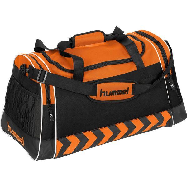 Hummel Luton (L) Sporttas Met Zijvakken - Oranje / Zwart