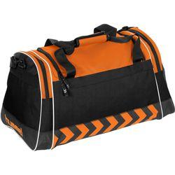 Voorvertoning: Hummel Luton (L) Sporttas Met Zijvakken - Oranje / Zwart