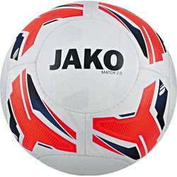 Jako Match 2.0 Wedstrijd/Trainingsbal - Wit / Flame / Navy