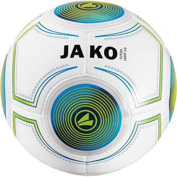 Jako Futsal Light 3.0 (Ca. 290 G) Voetbal - Wit / Jako Blauw / Fluo Groen