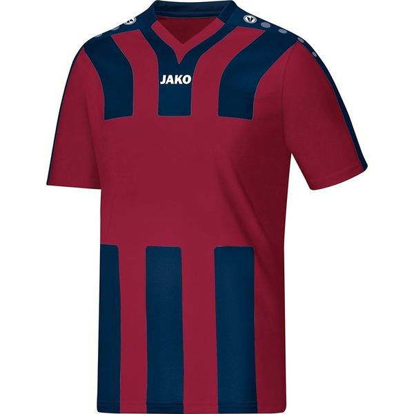 Jako Santos Shirt Korte Mouw Heren - Bordeaux / Marine
