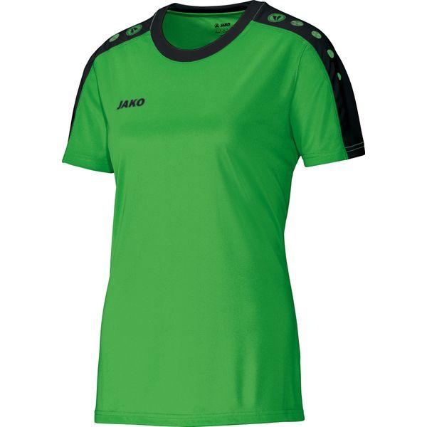 Jako Striker Shirt Korte Mouw Dames - Zachtgroen / Zwart