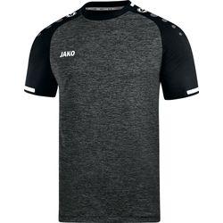 Jako Prestige Shirt Korte Mouw Heren - Zwart Gemeleerd / Wit