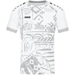 Jako Tropicana Shirt Korte Mouw - Wit / Zilver