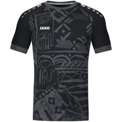 Jako Tropicana Shirt Korte Mouw Kinderen - Zwart / Antraciet