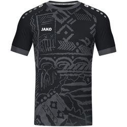 Jako Tropicana Shirt Korte Mouw - Zwart / Antraciet