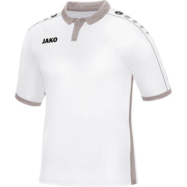 Jako Derby Shirt Korte Mouw Kinderen - Wit / Zilver