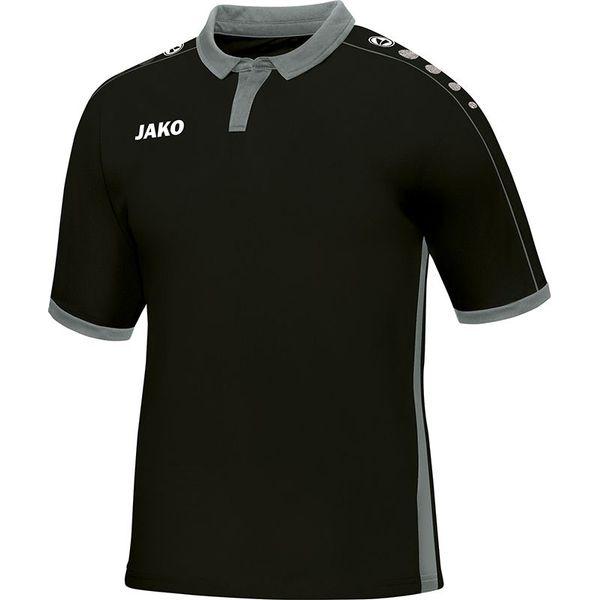 Jako Derby Shirt Korte Mouw Kinderen - Zwart / Grijs