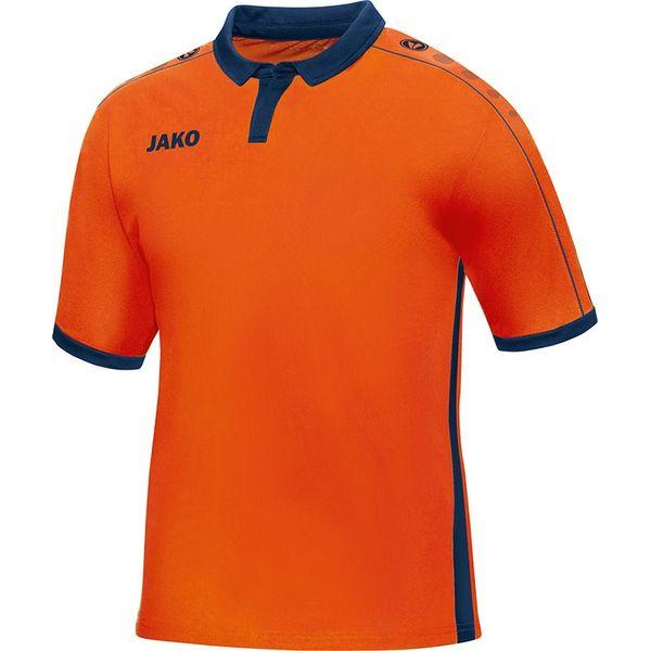 Jako Derby Shirt Korte Mouw Kinderen - Flame / Marine