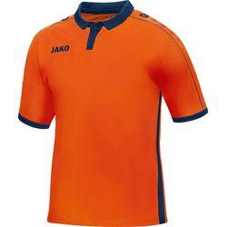 Voorvertoning: Jako Derby Shirt Korte Mouw Kinderen - Flame / Marine