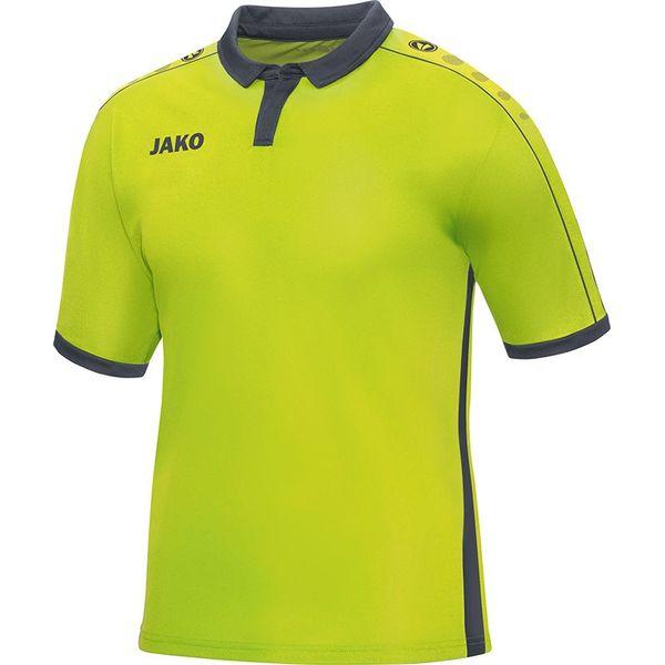 Jako Derby Shirt Korte Mouw Kinderen - Lime / Antraciet