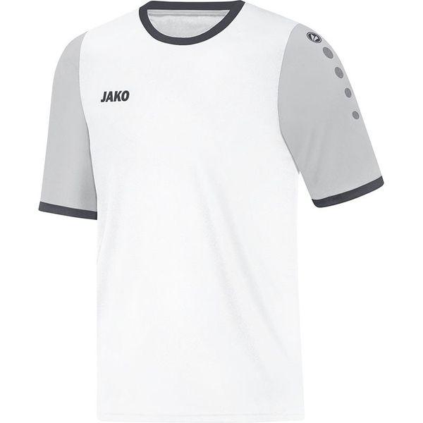 Jako Leeds Shirt Korte Mouw Kinderen - Wit / Zilver / Antraciet