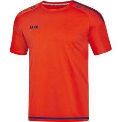 Jako Striker 2.0 Shirt Korte Mouw Heren - Flame / Navy
