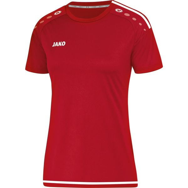 Jako Striker 2.0 Shirt Korte Mouw Dames - Chilirood / Wit
