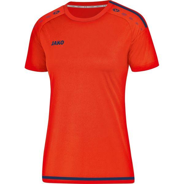 Jako Striker 2.0 Shirt Korte Mouw Dames - Flame / Navy