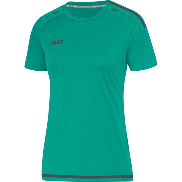 Jako Striker 2.0 T-Shirt Dames - Turkoois / Antraciet