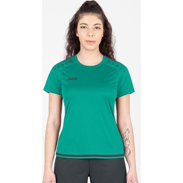 Jako Striker 2.0 Shirt Korte Mouw Dames - Turkoois / Antraciet