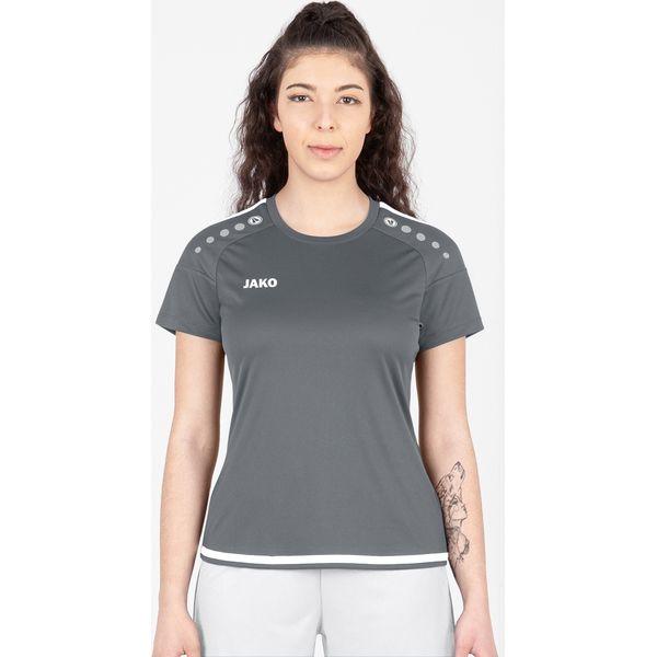 Jako Striker 2.0 Shirt Korte Mouw Dames - Steengrijs / Wit