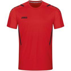 Jako Challenge Shirt Korte Mouw Heren - Rood / Zwart