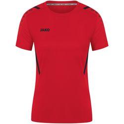 Jako Challenge Shirt Korte Mouw Dames - Rood / Zwart