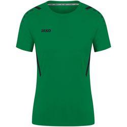 Jako Challenge Shirt Korte Mouw Dames - Sportgroen / Zwart