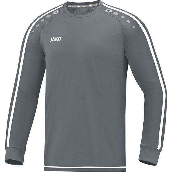 Jako Striker 2.0 Voetbalshirt Lange Mouw Kinderen - Steengrijs / Wit