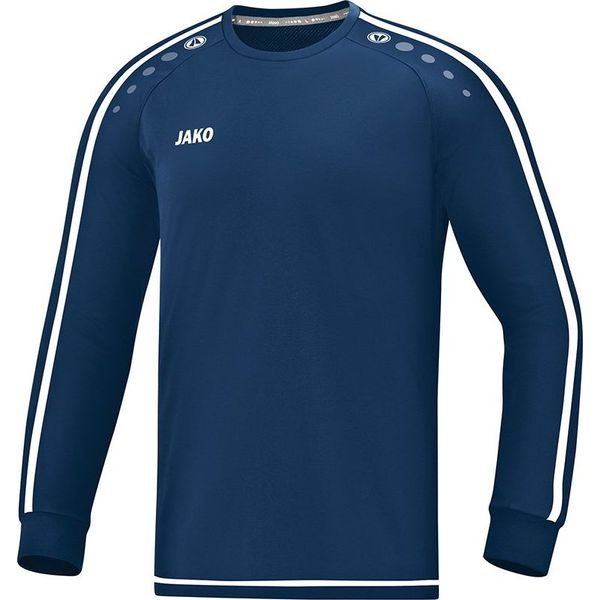 Jako Striker 2.0 Voetbalshirt Lange Mouw Kinderen - Marine / Wit