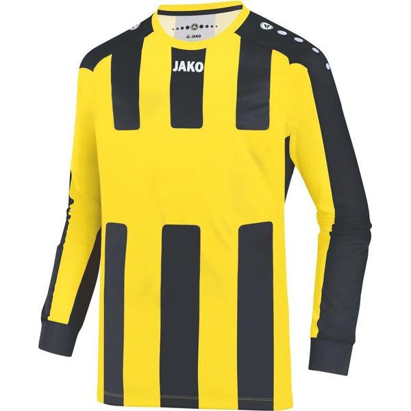 Jako Milan Voetbalshirt Lange Mouw Kinderen - Citroen / Zwart