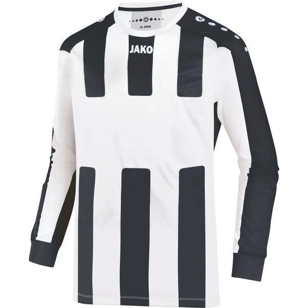 Jako Milan Voetbalshirt Lange Mouw Kinderen - Wit / Zwart