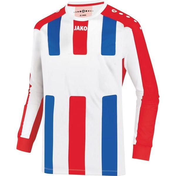 Jako Milan Voetbalshirt Lange Mouw - Wit / Rood / Royal