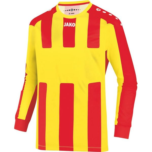 Jako Milan Voetbalshirt Lange Mouw - Citroen / Rood
