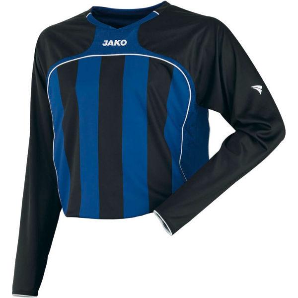 Jako Inter Voetbalshirt Lange Mouw - Royal / Zwart / Wit