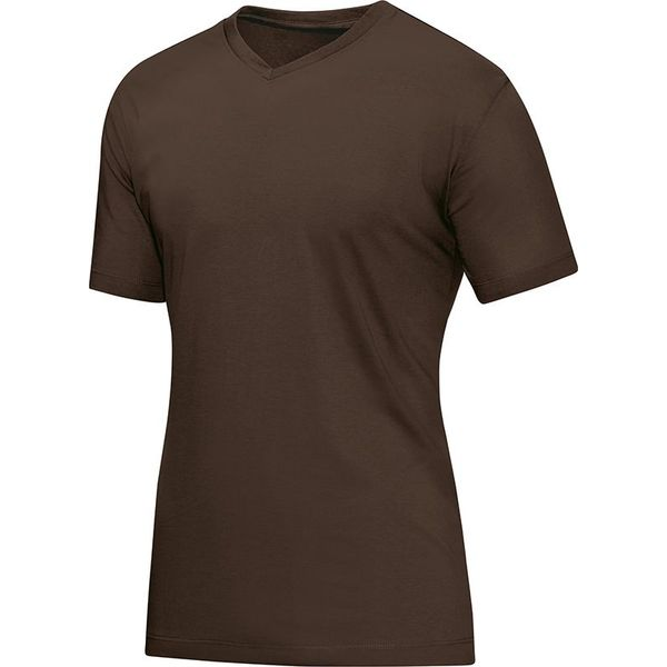 Jako T-Shirt V-Hals Heren - Coffee