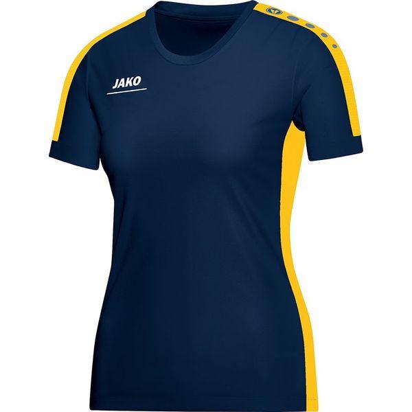 Jako Striker T-Shirt Dames - Marine / Geel