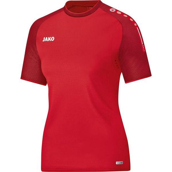 Jako Champ T-Shirt Dames - Rood / Donkerrood
