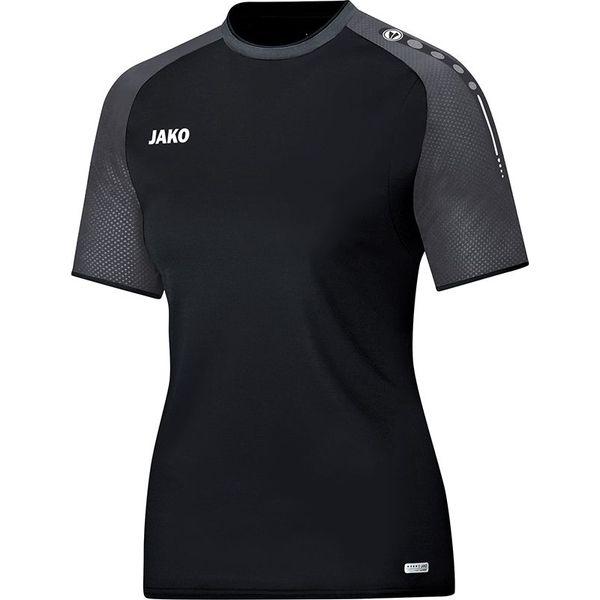 Jako Champ T-Shirt Dames - Zwart / Antraciet