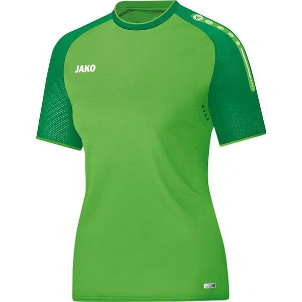 Jako Champ T-Shirt Dames - Zachtgroen / Sportgroen