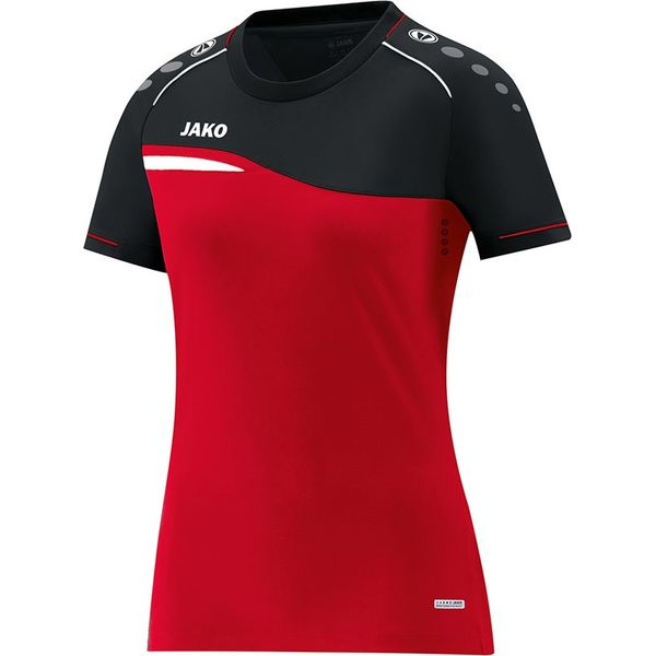 Jako Competition 2.0 T-Shirt Dames - Rood / Zwart