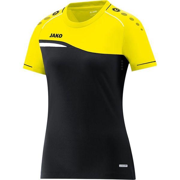 Jako Competition 2.0 T-Shirt Dames - Zwart / Fluogeel