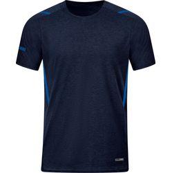 Jako Challenge T-Shirt Heren - Marine Gemeleerd / Royal