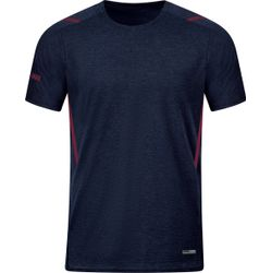 Jako Challenge T-Shirt Dames - Marine Gemeleerd / Kastanje