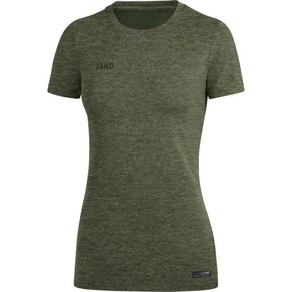 Jako Premium Basics T-Shirt Dames - Kaki Gemeleerd
