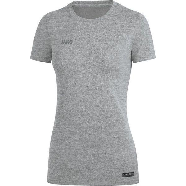 Jako Premium Basics T-Shirt Dames - Grijs Gemeleerd