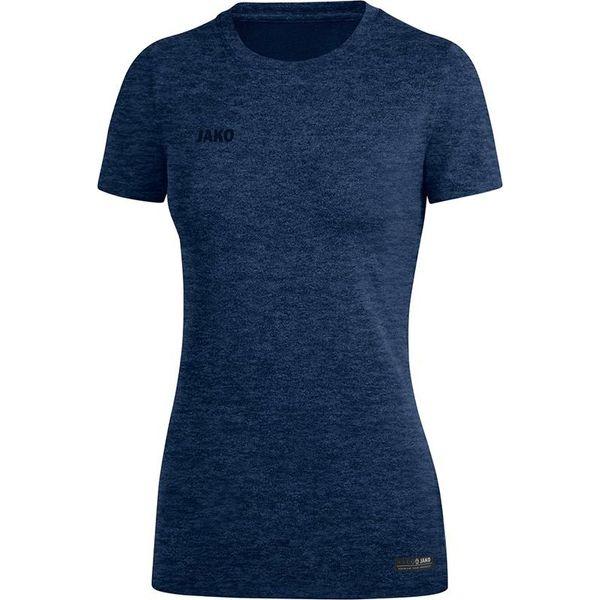 Jako Premium Basics T-Shirt Dames - Marine Gemeleerd