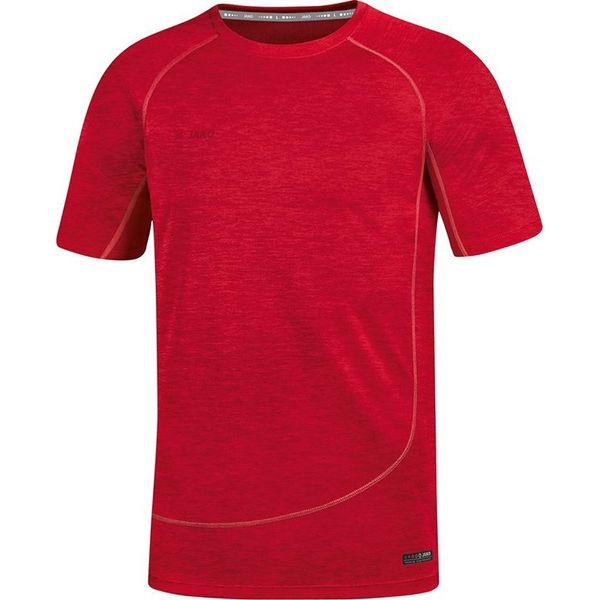 Jako Active Basics T-Shirt - Rood Gemeleerd