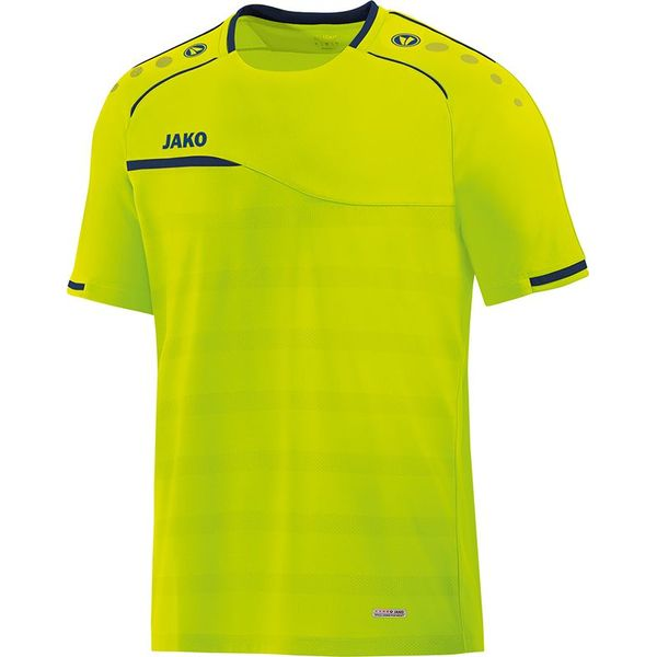 Jako Prestige T-Shirt Hommes - Lemon / Marine